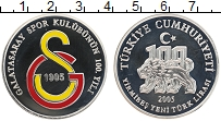 Изображение Монеты Турция 25 лир 2005 Серебро Proof 100 лет Футбольному
