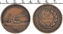 Изображение Монеты Турция 2 1/2 лиры 2015 Бронза UNC Корабль Нусрет