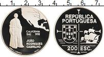 Изображение Монеты Португалия 200 эскудо 1992 Серебро Proof Жоао Родригес Кабрил