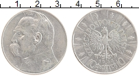 Изображение Монеты Польша 10 злотых 1935 Серебро XF Юзеф Пилсудский