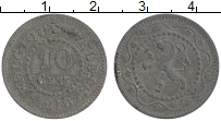 Изображение Монеты Бельгия 10 сантим 1916 Цинк XF
