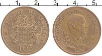 Изображение Монеты Монако 10 франков 1989 Бронза XF Фонд принца Пьрра