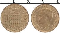 Изображение Монеты Монако 10 франков 1951 Латунь XF Ранье III