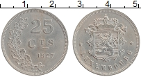 Изображение Монеты Люксембург 25 сантим 1927 Медно-никель XF Шарлотта