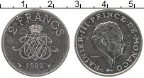 Изображение Монеты Монако 2 франка 1982 Медно-никель XF Райне III