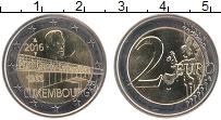 Изображение Монеты Люксембург 2 евро 2016 Биметалл UNC Мост Шарлоты