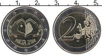 Продать Монеты Мальта 2 евро 2016 Биметалл