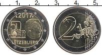 Изображение Монеты Люксембург 2 евро 2017 Биметалл UNC 50 лет добровольной