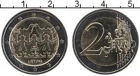 Изображение Монеты Литва 2 евро 2018 Биметалл UNC
