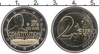 Изображение Мелочь Люксембург 2 евро 2018 Биметалл UNC- 150 лет Конституции