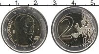 Изображение Монеты Италия 2 евро 2019 Биметалл UNC 500-летие со дня сме