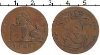 Изображение Монеты Бельгия 5 сантим 1887 Медь XF Леопольд I