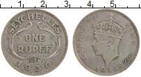 Изображение Монеты Сейшелы 1 рупия 1939 Серебро XF Георг VI