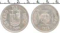Изображение Монеты Португальская Индия 1 рупия 1935 Серебро UNC-