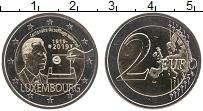 Изображение Монеты Люксембург 2 евро 2019 Биметалл UNC 100 лет всеобщего из