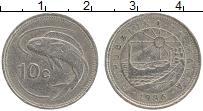 Изображение Монеты Мальта 10 центов 1986 Медно-никель XF год/тип