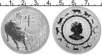 Изображение Монеты Австралия 1 доллар 2021 Серебро UNC Год быка. Елизавета