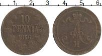 Изображение Монеты Финляндия 10 пенни 1866 Медь VF
