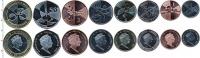 Изображение Наборы монет Гибралтар набор монет 2019  UNC В наборе 8 монет ном