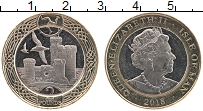Изображение Монеты Остров Мэн 2 фунта 2018 Биметалл UNC Елизавета II. Крепос