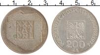 Изображение Монеты Польша 200 злотых 1974 Серебро XF 30 лет Польской Наро