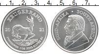 Изображение Монеты ЮАР 1 крюгерранд 2021 Серебро UNC Пауль Крюгер. Антило
