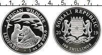 Изображение Монеты Сомали 100 шиллингов 2019 Серебро Proof Леопарды