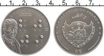 Изображение Монеты Палау 5 долларов 2009 Серебро UNC Луи Брайль