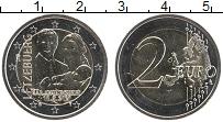 Изображение Мелочь Люксембург 2 евро 2020 Биметалл UNC Рождение наследного