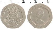 Изображение Монеты Великобритания 20 пенсов 1982 Медно-никель XF Елизавета II.