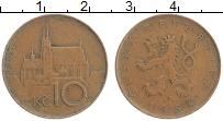 Изображение Монеты Чехия 10 крон 1994 Бронза XF
