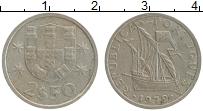 Изображение Монеты Португалия 2 1/2 эскудо 1979 Медно-никель XF