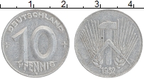 Изображение Монеты ГДР 10 пфеннигов 1952 Алюминий XF А