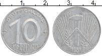 Изображение Монеты ГДР 10 пфеннигов 1953 Алюминий XF А