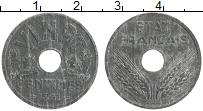 Изображение Монеты Франция 20 сантим 1941 Цинк UNC- Немецкая оккупация.П