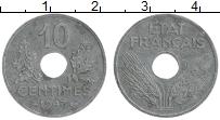 Изображение Монеты Франция 10 сантим 1943 Цинк XF Немецкая оккупация