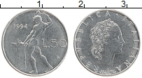 Изображение Монеты Италия 50 лир 1994 Сталь UNC-