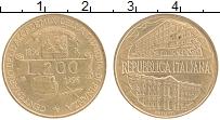 Изображение Монеты Италия 200 лир 1996 Латунь UNC- Академия финансов и