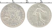 Изображение Монеты Франция 50 сантим 1899 Серебро XF