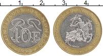 Продать Монеты Монако 10 франков 1992 Биметалл