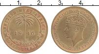 Изображение Монеты Западная Африка 1 шиллинг 1946 Латунь XF Георг VI