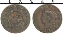 Изображение Монеты США 1 цент 1825 Медь VF Свобода