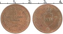 Изображение Монеты Швеция 1/3 скиллинга 1835 Медь XF Карл XIV Юхан. Год-т
