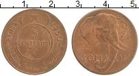Изображение Монеты Сомали 5 сентесим 1950 Бронза UNC-