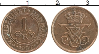 Изображение Монеты Дания 1 эре 1907 Бронза XF Фредерик VIII