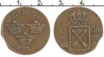 Изображение Монеты Швеция 1 эре 1772 Медь XF Густав III