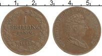 Изображение Монеты Швеция 1 скиллинг 1843 Медь XF Карл XIV