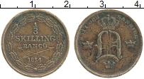 Изображение Монеты Швеция 1/3 скиллинга 1854 Медь XF Оскар