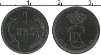 Изображение Монеты Дания 1 эре 1882 Медь XF Кристиан IХ. Редкий