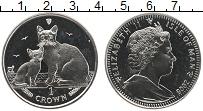 Изображение Монеты Остров Мэн 1 крона 2008 Медно-никель UNC Кошки Бурмилла